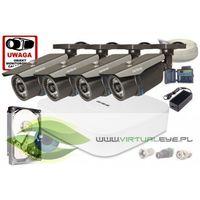 Zestawy monitoringowe, Zestaw AHD, 4x Kamera FullHD/IR 30m, Rejestrator 4ch + 1TB