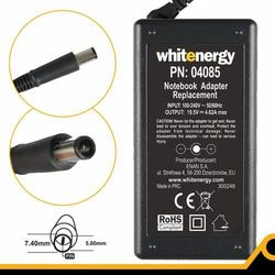 Whitenergy Zasilacz 19.5v/4.62a Wtyk 7.4x5.0 Mm (04085)