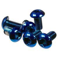 Śruby, Śruby mocujące tarcze hamulcowe Dartmoor stalowe niebieskie 6 szt