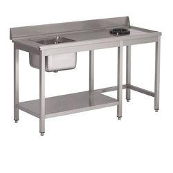 Stół ze zlewem i otworem na odpady | 1400x700x(H)850mm