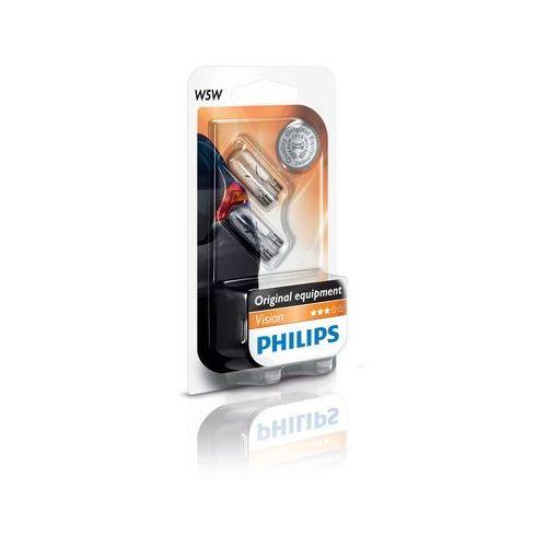 Żarówki halogenowe samochodowe, ZESTAW 2x Żarówka samochodowa Philips VISION 12961B2 W5W W2,1x9,5d/5W/12V