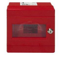 Rozdzielnica natynkowa modułowa 7 modułów IP44 180x180x100 Czerwona z zamkiem i szybą ALFA 3 Z