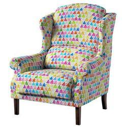 Dekoria Fotel Unique, kolorowe trójkąty na białym tle, 85 × 107 cm, New Art