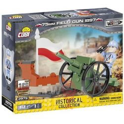 Klocki COBI 2979 75 mm Field Gun 1897 Francuska armata polowa