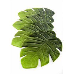 """Podkładki na stół """"Liść"""" (4 szt.) bonprix zielony"""