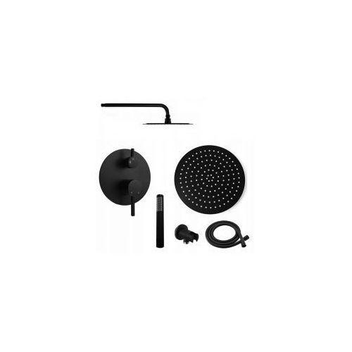 COSTA Podtynkowy zestaw prysznicowy, czarny