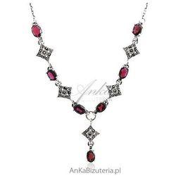 ankabizuteria.pl Biżuteria komplet srebrny 3w1 granaty oraz markazytami sensualna