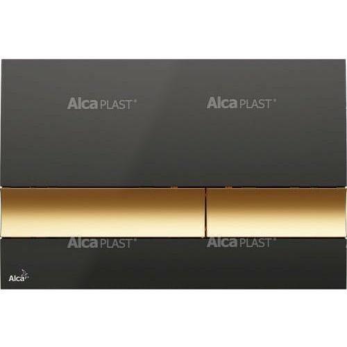 Alcaplast m1728-5 przycisk, czerń / złoto