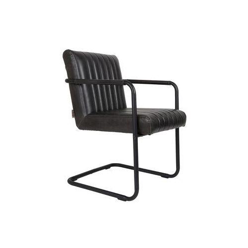 Fotele, Dutchbone Fotel STITCHED czarny 1200118