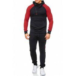 dres mĘski -czarno-czerwony 47008-1