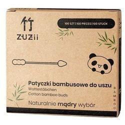 ZUZII Patyczki kosmetyczne bambusowe z bawełną w kształcie bałwanka/szpicu 100szt