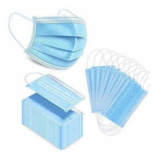 Maseczki i przyłbice ochronne, Zestaw 50x jednorazowa 3 warstwowa maska maseczka maseczki maski ochronna na twarz