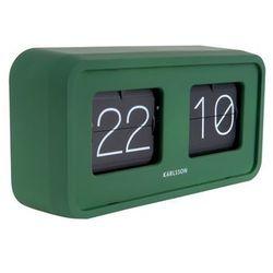Zegar stołowy Bold Flip matt green by Karlsson