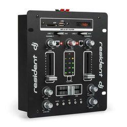 Resident DJ DJ-25 BT mikser DJ mikser Bluetooth USB czarny/biały
