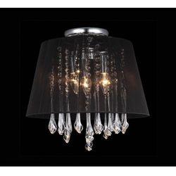 Plafon LAMPA sufitowa ISLA MXM1869-3 BL Italux abażurowa OPRAWA kryształowa glamour crystal czarna