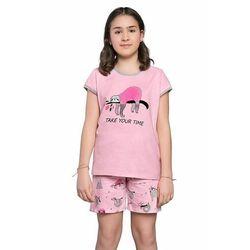 Piżama dziewczęca Lalima różowa