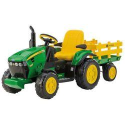 PEG PEREGO Traktor John Deere Power Pull Ground 12V - BEZPŁATNY ODBIÓR: WROCŁAW!