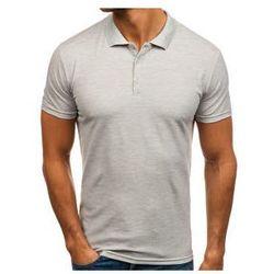Koszulka polo męska szara Denley HS2005