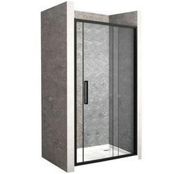 Drzwi prysznicowe z czarnym profilem 140 cm Rapid Slide Rea UZYSKAJ 5 % RABATU NA ZAKUP