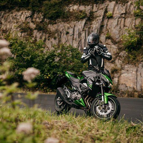 Buty motocyklowe, Skórzane buty motocyklowe W-TEC NF-6003, Zielony, 44