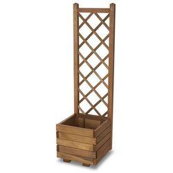 Donica drewniana Verve 40 cm z kratką 140 cm