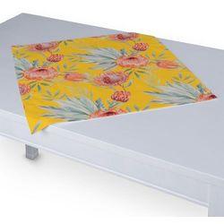 Dekoria Serweta 60x60 cm, pomarańczowe kwiaty na żółtym tle, 60 x 60 cm, New Art