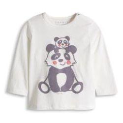 ESPRIT Newborn Bluzka z krótkim rękawkiem PANDA off white
