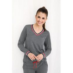 Bawełniana piżama damska LUNA 462 szary