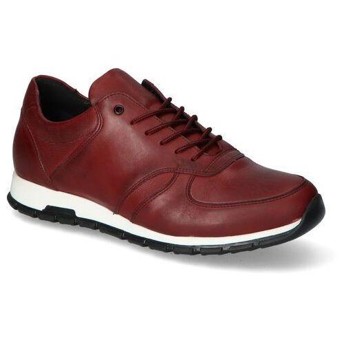 Męskie obuwie sportowe, Sneakersy Pan 1499 Bordowe lico