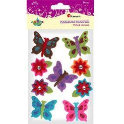 Naklejki filcowe 307573 Motyle i kwiaty - Titanum