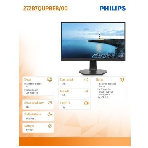 Monitory LCD, LCD Philips 272B7QUPBEB
