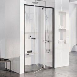 Ravak Pivot drzwi prysznicowe PDOP2-110, wys.190 cm Czarny + Transparent 03GD0300Z1