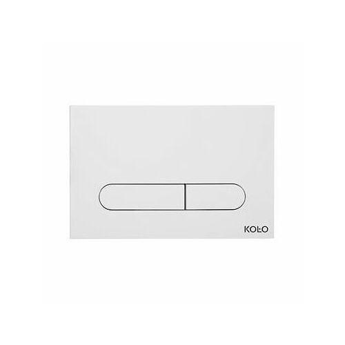 Koło slim przycisk spłukujący, biały 94183-001