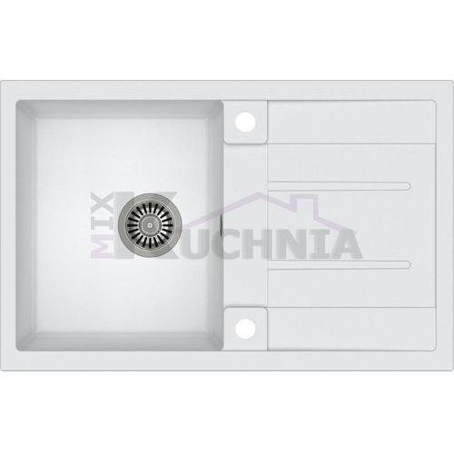 QUADRON zlewozmywak MORGAN 111 biały metalik / odpływ stalowy (HB8203U1-BS)