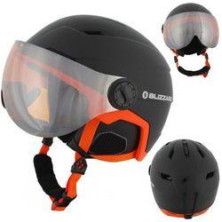 Kask narciarski BLIZZARD Double Visor czarno-pomarańczowy mat, orange lens, lustro,big logo 60-63 L/XL