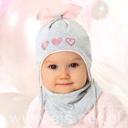 Komplet ajs 40-006 czapka+chustka rozmiar: 44-46cm, kolor: wielokolorowy, ajs
