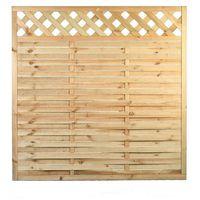 Przęsła i elementy ogrodzenia, Płot drewniany Ewa 1800 x 1800