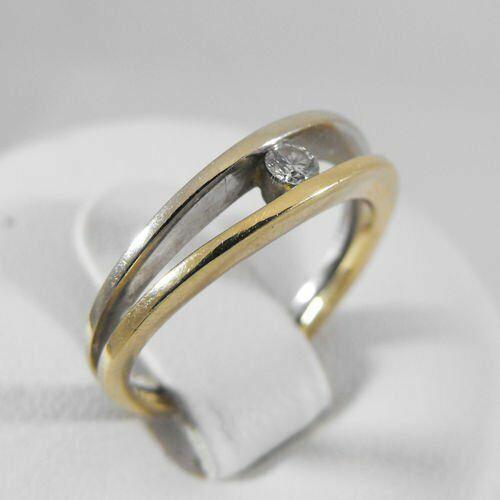 Pierścionki i obrączki, Złoty pierścionek z brylantem P1154