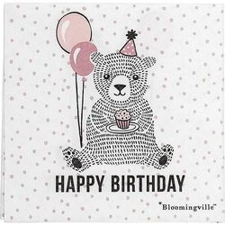 Serwetki papierowe happy birthday bear różowe 20 szt.