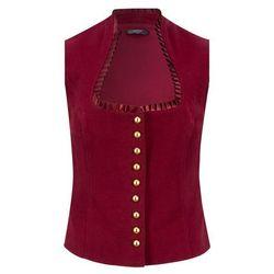 Kamizelka w ludowym stylu ze stójką bonprix czerwony rubinowy