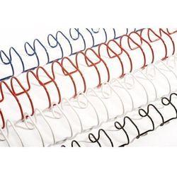 Grzbiety do bindowania drutowe, białe, 6,4 mm, 100 sztuk, oprawa 16-40 kartek - Super Ceny - Rabaty - Autoryzowana dystrybucja - Szybka dostawa - Hurt
