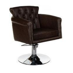 Fotel fryzjerski ALBERTO BH-8038 brązowy