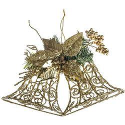 HTH Dekoracja ścienna dzwonki 30 cm, złoty