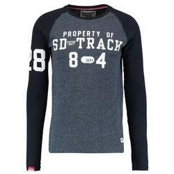 Superdry TRACKSTER BASEBALL Bluzka z długim rękawem twilight blue grit/navy