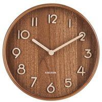 Zegary, Zegar ścienny pure mały ciemne drewno
