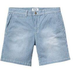 Długie szorty dżinsowe ze stretchem Regular Fit bonprix niebieski w paski