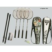 Badminton i speedminton, TALBOT-TORRO - 4-Fighter Set Telescopic Net - Zestaw do badmintona