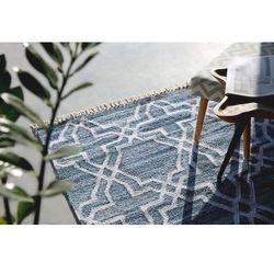 Dywan niebieski - 160x230 cm - chodnik - mata - bawełna - Adiyaman