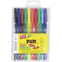 Długopisy Fun 10 kolorów EASY