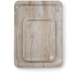 Taca do serwowania z nadrukiem drewna jasny dąb | 240x350 mm
